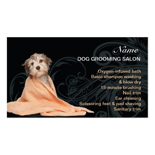Dog grooming Salon Business Card