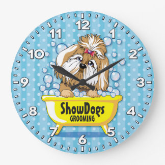 Dog Grooming Salon-Pet Groomer-Personalized Clock