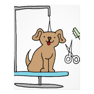 Dog grooming table personalized letterhead