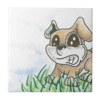 Dog Growl - TOWT  MAIN MASCOT - Full Background Ceramic Tiles