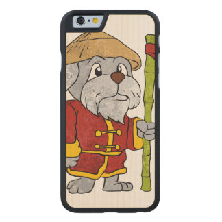 Dog guru master cartoon carved® maple iPhone 6 slim case
