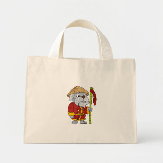 Dog guru master cartoon mini tote bag