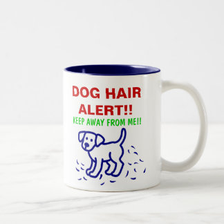 DOG HAIR ALERT -- Labrador Two-Tone Coffee Mug
