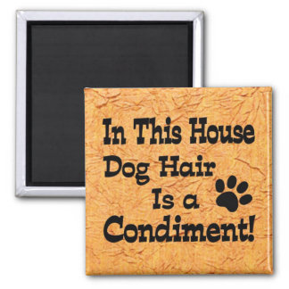 Dog Hair Condiment Square Magnet