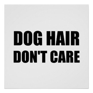 Dog Hair Dont Care Poster