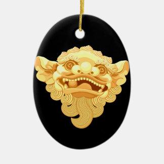 dog head 9.1.2 ceramic ornament