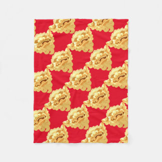 dog head 9.1.2 fleece blanket