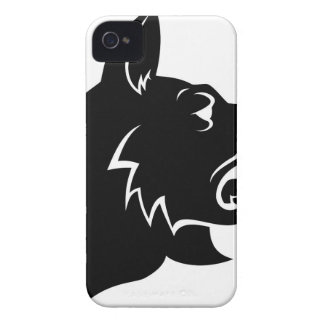 Dog Head Icon iPhone 4 Case-Mate Cases