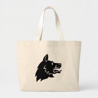 Dog Head Icon Large Tote Bag
