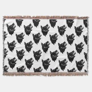 Dog Head Icon Throw Blanket
