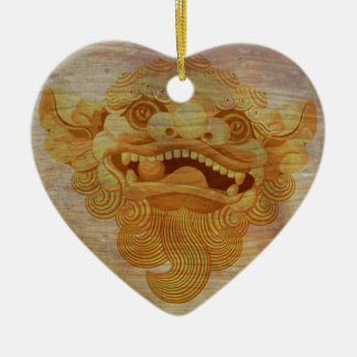 Dog head on a wooden board 9.1.3 ceramic ornament