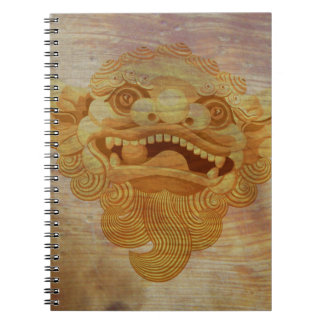 Dog head on a wooden board 9.1.3 notebooks