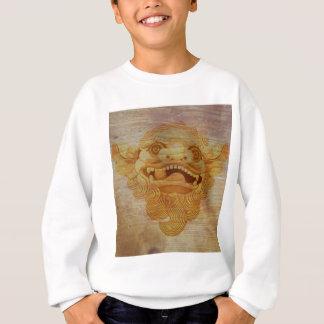 Dog head on a wooden board 9.1.3 sweatshirt