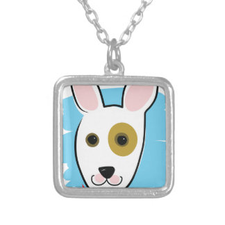 Dog Head Silver Plated Necklace