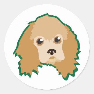 Dog Head Round Sticker
