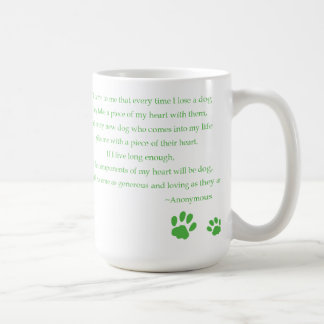 Dog Heart Quote Mug