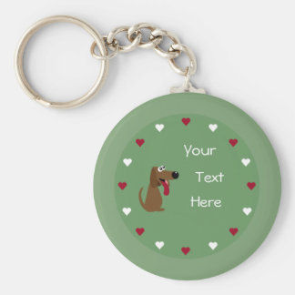 Dog & Hearts keychain