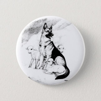 Dog Heaven, the Master's Flock 2 Inch Round Button
