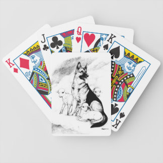 Dog Heaven, the Master's Flock Bicycle Playing Cards
