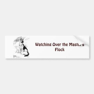 Dog Heaven, the Master's Flock Bumper Sticker