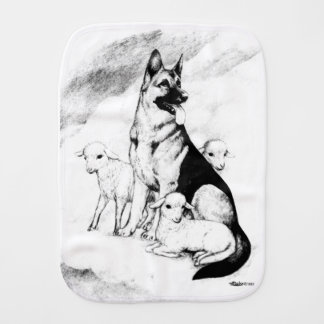 Dog Heaven, the Master's Flock Burp Cloth