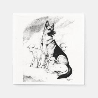 Dog Heaven, the Master's Flock Disposable Napkins