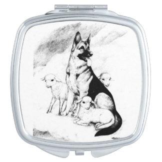 Dog Heaven, the Master's Flock Makeup Mirror