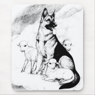 Dog Heaven, the Master's Flock Mouse Pad