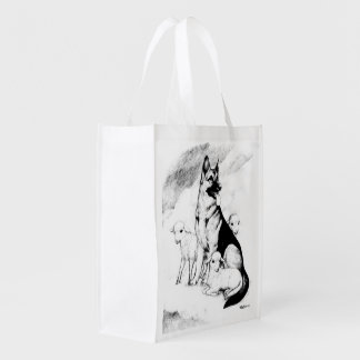 Dog Heaven, the Master's Flock Reusable Grocery Bag