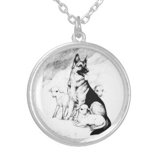 Dog Heaven, the Master's Flock Silver Plated Necklace