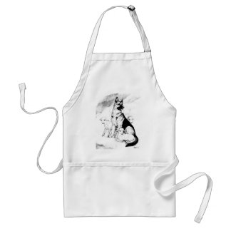 Dog Heaven, the Master's Flock Standard Apron