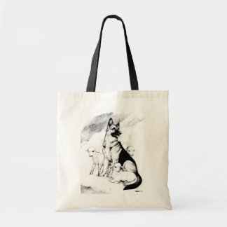 Dog Heaven, the Master's Flock Tote Bag