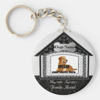 Dog House Pet Memorial Basic Round Button Keychain