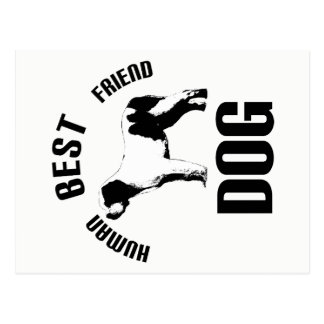 Dog Human Best Friend Postcard