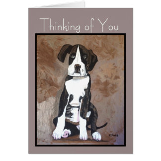 Dog Humor 'Thinking of You' Card for Any Dog Lover