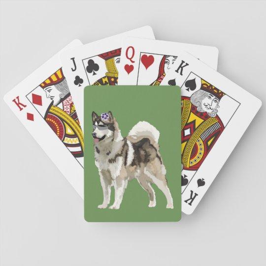 Dog, Husky dog  Art Playing Cards