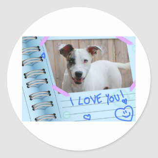 Dog I Love You Round Sticker