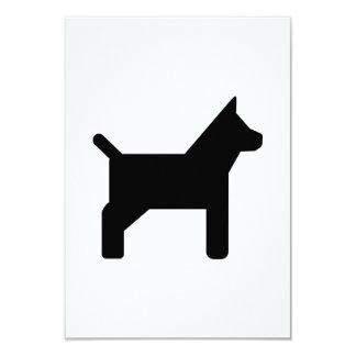 Dog icon 3.5x5 paper invitation card