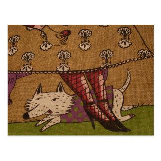Dog Illustration Postcard