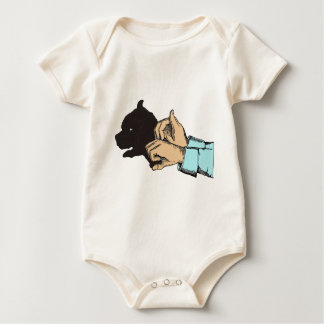 Dog Image Created With Hand Art On Baby Bodysuits