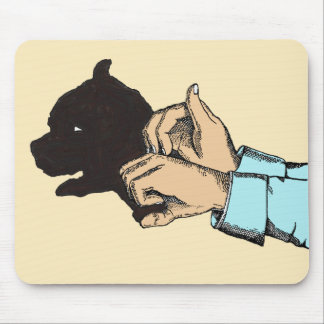 Dog Image Created With Hand Art On Mouse Pad
