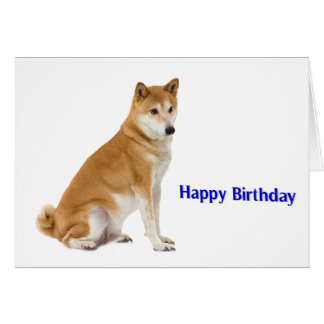 Dog image for Birthday greeting card