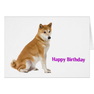 Dog image for Birthday greeting card