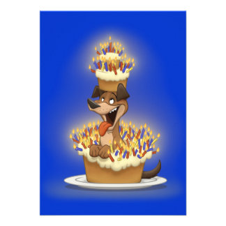 Dog in a Cake Invitations