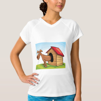 Dog In A Dog House Womens Active Tee