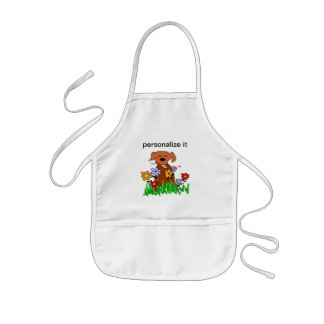 Dog In Garden Dog Lover Kids Apron