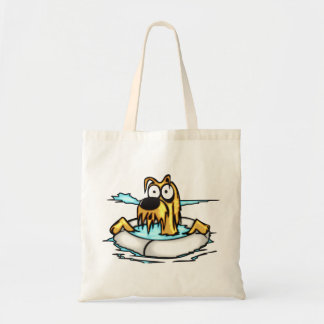 Dog In Lifesaver Float Tote Bag