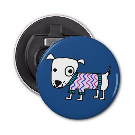 Dog In Sweater, bottle opener Button Bottle Opener