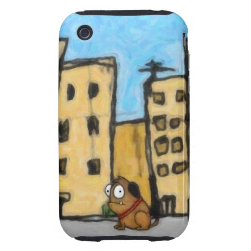 Dog in the City iPhone 3 Tough Case