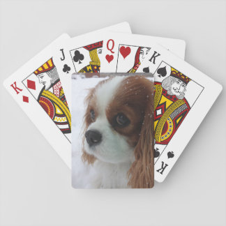 Dog in the Snow Playing Cards